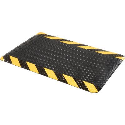 "Apache Mills Diamond Deluxe Soft Foot™ Mat 9/16"" Thick 2' x 3' Black/Yellow Chevron Border"