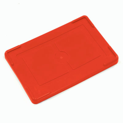 """Global Industrial™ Lid COV91000 for Plastic Dividable Grid Container, 10-7/8""""L x 8-1/4""""W, Red - Pkg Qty 10"""