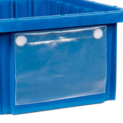 """Global Industrial™ Label Holder LBL2X8 for Plastic Dividable Grid Container, 8""""W x 2""""H, Qty 6"""