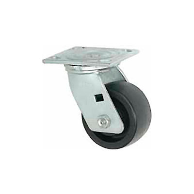 """Faultless Swivel Plate Caster 1465W-8 8"""" Thermoplastic Wheel"""
