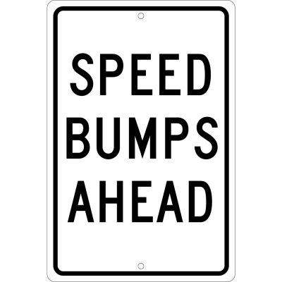 "Aluminum Sign - Speed Bump Ahead - .063"" Thick, TM35H"