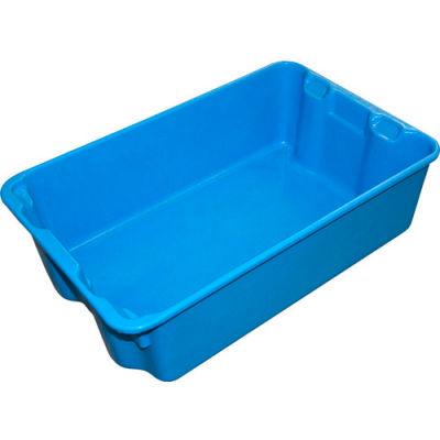 "Molded Fiberglass Nest and Stack Tote 780308 - 19-3/4"" x 12-1/2"" x 6"" Blue - Pkg Qty 12"