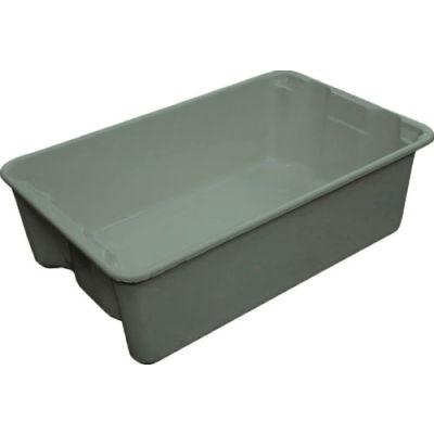 "Molded Fiberglass Toteline Nest and Stack Tote 780308 - 19-3/4"" x 12-1/2"" x 6"" Gray - Pkg Qty 12"