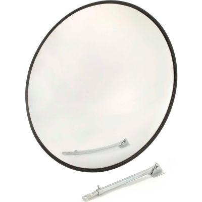"Round Acrylic Convex Mirror, Outdoor, 18"" Dia., 160° Viewing Angle"