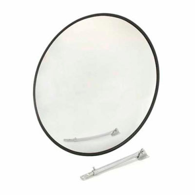 "Round Acrylic Convex Mirror, Outdoor, 26"" Dia., 160° Viewing Angle"