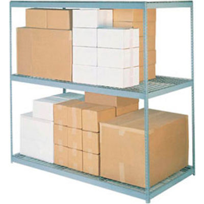 "Global Industrial™ High Capacity Wire Deck Shelf 96""W x 24""D - Gray"