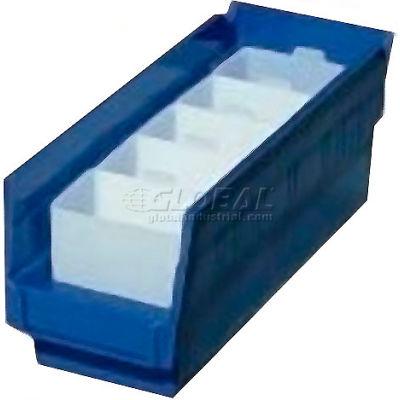 "Akro-Mils Bin Cup 30102 For Shelf Bins - 5"" x 2-3/4"" x 3"", White - Pkg Qty 24"