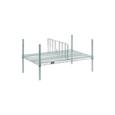 "Nexel® AD814C Chrome Divider 14""D x 8""H for Wire Shelves"