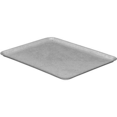 "Molded Fiberglass Nesting Tote 930118 Lid for 930108 Tote - 12-3/8""L x 9-3/4""W , Gray"