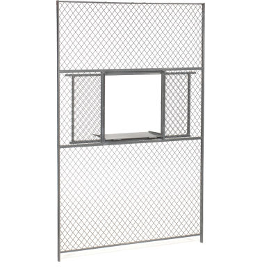 Global Industrial™ Wire Mesh Service Window for 8' Security Room