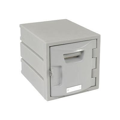 """Remco Plastics Six Tier Box Plastic Locker, 12""""Wx15""""Dx12""""H, Gray, Assembled"""