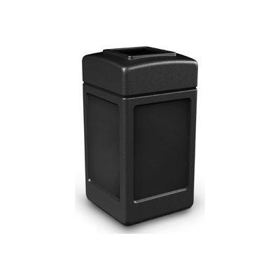42 Gallon Square Waste Receptacles, Black - 732101