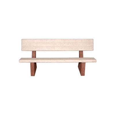 """Concrete 48"""" Commercial Bench with Backrest"""