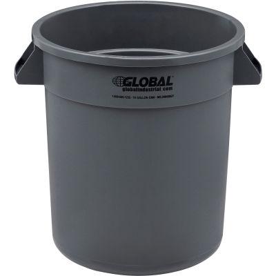 PoubelleGlobal Industrial™,10 gallons, plastique, gris