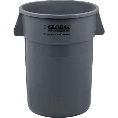 PoubelleGlobal Industrial™,44 gallons, plastique, gris