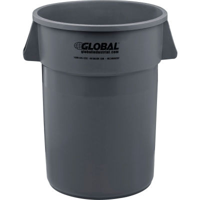 Global Industrial™ Plastic Trash Can - 44 Gallon Gray