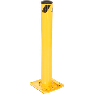 Global Industrial™ Removable Steel Bollard With Removable Plastic Cap 5.5''x36''H