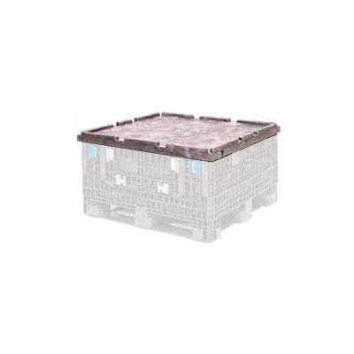 "ORBIS CKD3230  BulkPak Folding Bulk Shipping Container Lid - 32""L x 30""W Black"