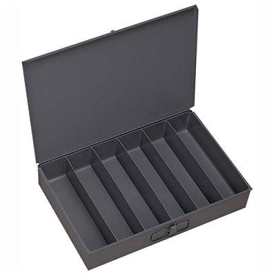 Durham Steel Scoop Compartment Box 117-95 - 6 Vertical Compartments 18 x 12 x 3 - Pkg Qty 4