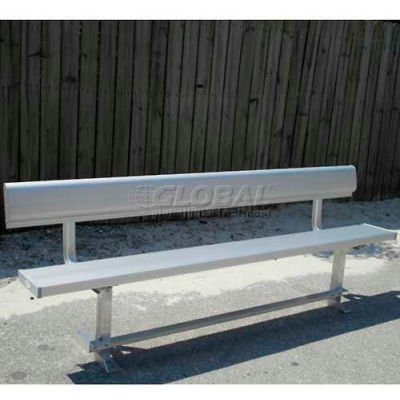 6' Aluminum Park Bench With Back, Portable and/or Surface Mount