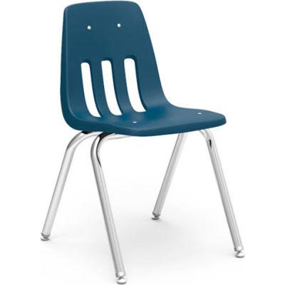 Virco® 9018 Classic Series™ Classroom Chair - Navy Vented Back - Pkg Qty 4