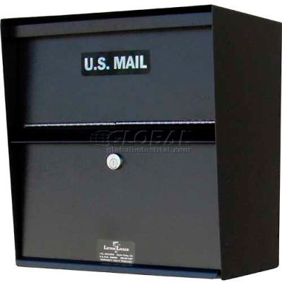 Jayco LLAHW Wall Mount Horizontal Aluminum Letter Locker Mailbox Black