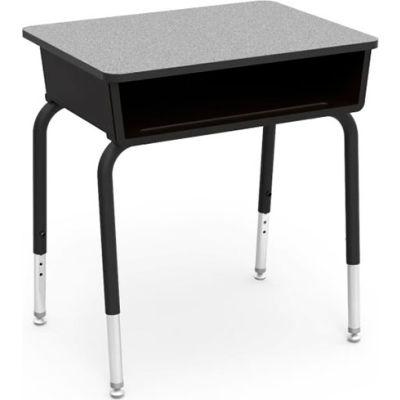 Virco® 785 Open Front Desk - Gray Laminate Top/Black Book Box & Frame - Pkg Qty 2