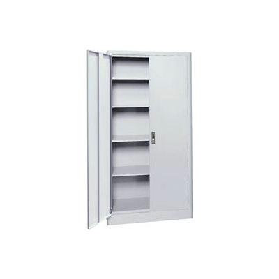 "Sandusky Elite Radius Edge Series Storage Cabinet, 36""Wx18""Dx72""H, Gray, Assembled"