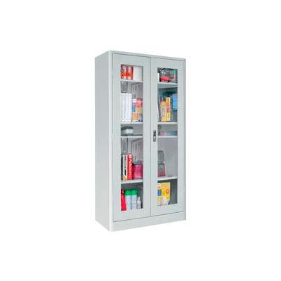 Sandusky Elite Radius Edge Series Clearview Storage Cabinet ER4V361872 - 36x18x72, Gray