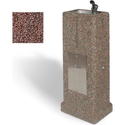 Fontaine verticale béton - Quartzite rouge
