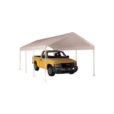 """Shelterlogic Super Max™ Canopy 23571, 10'W X 20'L, 2"""" Frame, 8-Leg, White"""