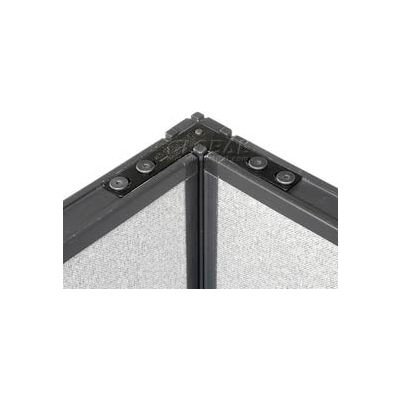 """Interion® Corner 90 Degree Connector Kit For 76"""" H Raceway Panel Without Cable"""
