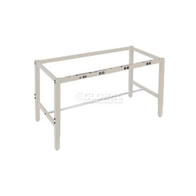 Global Industrial™ 72x30 Steel Square Tube Height Adj. Production Workbench, Electric Frame Tan
