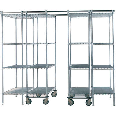 "Space-Trac 6 Unit Storage Shelving Chrome 36""W x 18""D x 86""H - 12 ft."