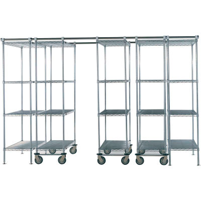 "Space-Trac 5 Unit Storage Shelving Poly-Z-Brite 36""W x 21""D x 86""H - 12 ft."