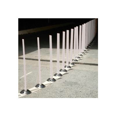 "Surface Mount Flexible Stake 36"" H White"