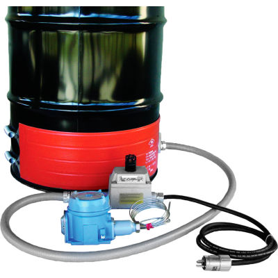 BriskHeat® Hazardous Area Drum Heater For 30 Gallon Steel Drum, 50-248°F, 240V