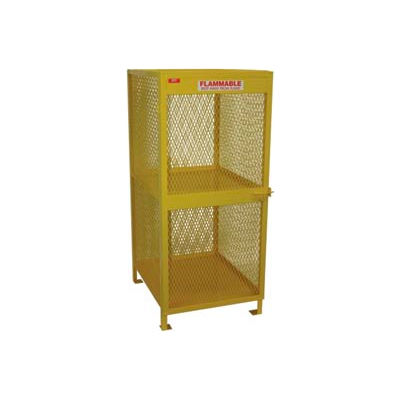 "Global Industrial™ Cylinder Storage Cabinet, Vertical Single Door 8 Cylinders, 33""Wx40""Dx71""H"