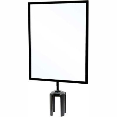 """Queueway Acyrlic Sign Frame, 11""""Wx14""""H, Black"""