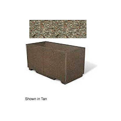 "Concrete Outdoor Planter w/Forklift Knockouts, 48""Lx24""Wx24""H Rectangle Gray Limestone"