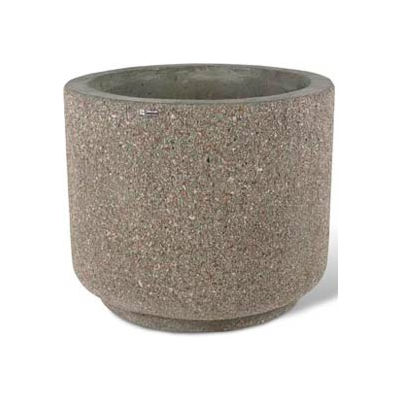 "Concrete Outdoor Planter 36""Dia x 30""H Round Gray limestone"