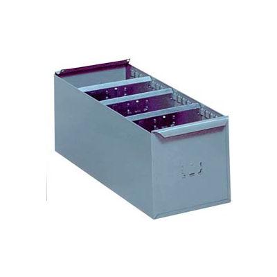 "Lyon Steel Shelf Box DD8117 - 5-21/32""W x 17-1/4""D x 4-5/16""H, Gray"
