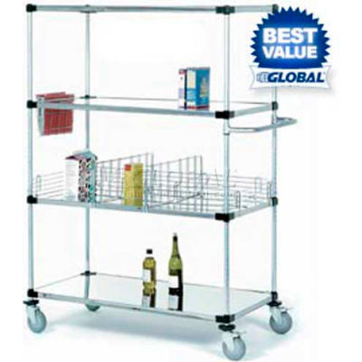 Nexel® Stainless Steel Shelf Truck 48x18x80 1200 Pound Capacity