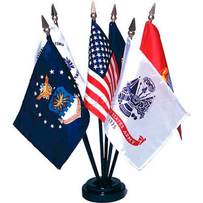 "Armed Forces Flag Set - 6 Flag Set - 4"" x 6"""