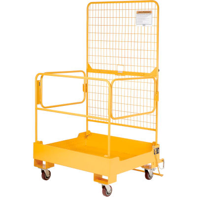 Global Industrial™ Fold Down Forklift Work Maintenance Platform 36 x 36