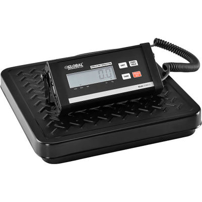 Global Industrial™ Digital Shipping Scale With AC Adapter/USB Port, 400 lb x 0.5 lb