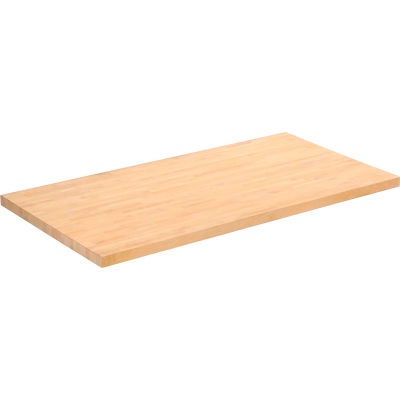 """Global Industrial™ Maple Butcher Block Square Edge Workbench Top, 36""""W x 24""""D x 1-3/4""""H"""
