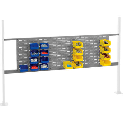 """Panel Kit for 72""""W Workbench with 18""""W and 36""""W Louvers, Mounting Rail - Gray"""