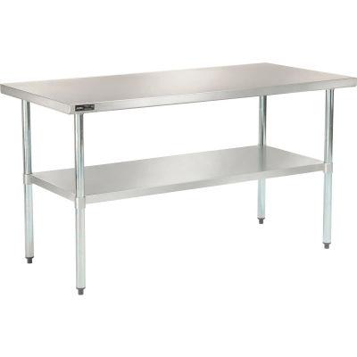 "Global Industrial™ Workbench W/Undershelf, 18 Ga. 430 Series Stainless, 60""Wx30""D"