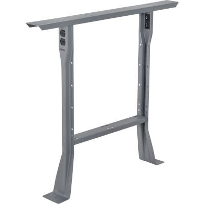 """Global Industrial™ C-Channel Flared Fixed Height Leg 32""""H - for 30""""D Workbench, 1 Leg - Gray"""